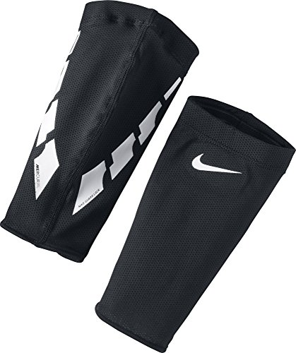 NIKE Guard Lock Elite Sleeves Espinilleras, Unisex Adulto, Black/White/(White), L