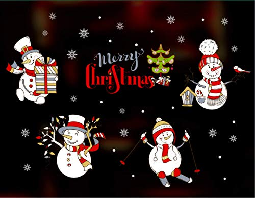 2020 kerstdecoratie, raamstickers, elektrostatisch, van glas, raamdecoratie, voor bedrijfscentra 100 * 85cm 14