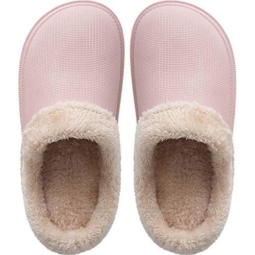 SLM-max Zapatillas Unisex,de casa peludas de Invierno, de Felpa cálidas Eva, japonesas, Zapatos cálidos para el Suelo Interior para Mujeres, Hombres, niños, Zapatos