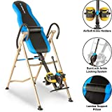 Exerpeutic 225SL Inversion Table with Airsoft No Pinch Ankle Holders, 'SURELOCK' Safety Ratchet System, and Lumbar Support