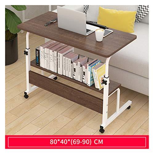 ELYSYSRL salontafels nachtkastje beweegbare armen Lift Top 69-90 Cm Laptop Desk Console Tafel Huishoudelijke Slaapzaal Eenvoudige Tafels Sofa Tafel Bijzettafel C Eiken Kleur