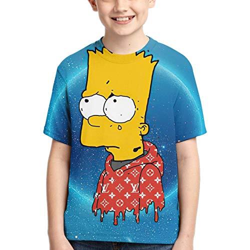 TH*E S^Ims&NS Camisa De Manga Corta con Cuello Redondo De para Ni?o Camiseta Casual para Ni?a