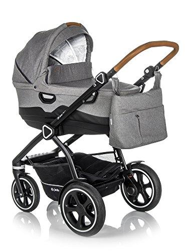 Jedo Trim System Kinderwagen Baby, Autositz Kinderwagen System 3 in1 + Zubehor (3W1 (+ Babyschale), M6)