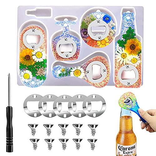 XQMMGO - Kit di stampi per apribottiglie in resina, per colata in resina, fai da te e fai da te
