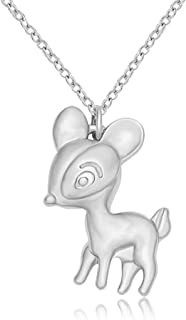 SENFAI Cute Alloy Small Deer Charm Necklace for Girls and Womens