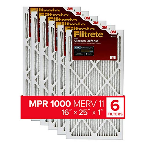 top rated Filtrete 16x25x1, AC Oven Air Filter, MPR 1000, Micro Allergen Resistant, 6 Packs (Exactly … 2020