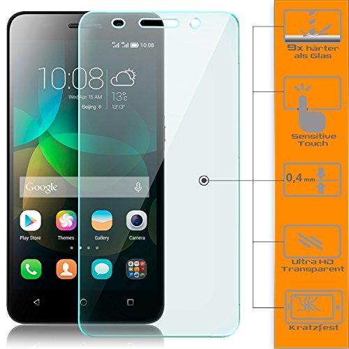 zanasta 2X Bildschirmschutz Folie kompatibel mit Huawei Huawei Honor 4C Bildschirmschutzfolie aus gehärtetem Glas Schutzglas Glasfolie Schutzfolie | HD Klar Transparent