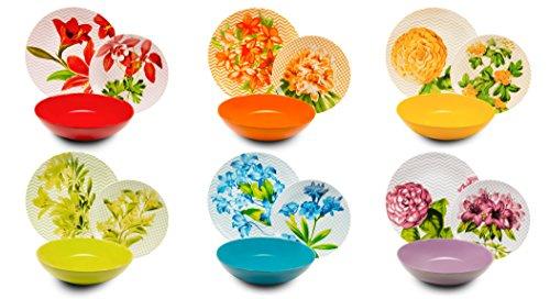 Excelsa Floral Vajilla de 18 Piezas, Multicolor