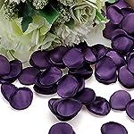 haqtxi 400 pcs artificial rose petals, simulation scatter petals confetti artificial silk flowers for wedding flower girl basket table center home shower decor (color : dark purple)
