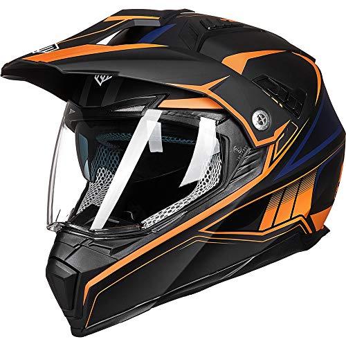 Casco De Moto Naranja  marca ILM