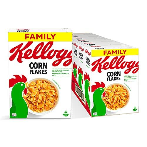 Kellogg's Corn Flakes Cerealien | Klassische Mais Cornflakes | 6er Vorratspackung (6 x 750g)