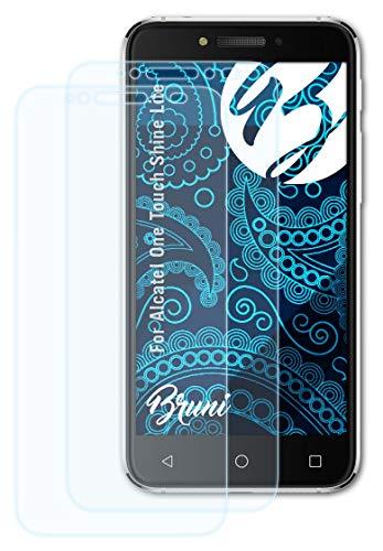 Bruni Schutzfolie kompatibel mit Alcatel One Touch Shine Lite Folie, glasklare Bildschirmschutzfolie (2X)