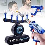 Hover Shot Juego de objetivo flotante eléctrico actualización USB o objetivos con batería Juego de disparos con 2 pistolas bláster, 10 dardos de tiro y 10 bolas flotantes Los regalos para niños Niñas