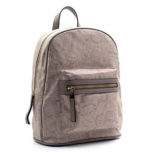 ALVIERO MARTINI ALV by Zaino-backpack wall gummy a marchio 26X34X14 cm. (Taupe)