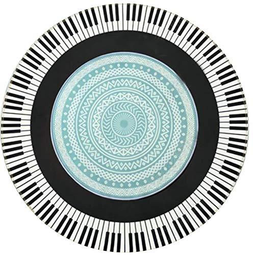 OUTGYM Vintage Runder Teppich Traditioneller Runder Teppich mit Blumenmuster im Böhmischen Stil Marokko Design Wohnzimmer Teppich weiche Kurze Flormatte rutschfest Rot 120 x 120