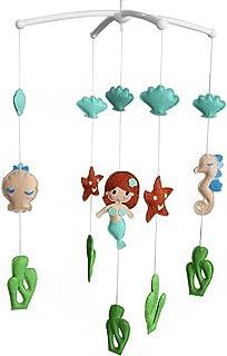 Lit bébé créatif rotatif mobile musical [sirène et étoiles de mer]