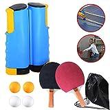 Bocotoer - Juego de pala de ping pong profesional con red retráctil, bolas, pala de ping pong, para el hogar, interior o al aire libre