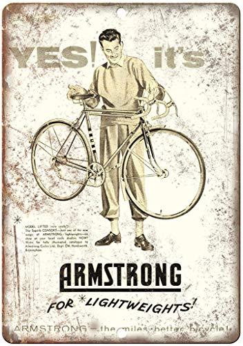 not Armstrong Consort Fahrrad-Metallplakat Blechschild Wandschild Eisen Malerei Warnschild Wandschild Dekoration für Bar Café Hotel Büro Zuhause Garten