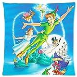 SHAA Custom Peter and Wendy Peter Pan Home - Funda de almohada decorativa suave con cremallera impresa estándar (40 x 40 cm)