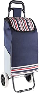 PAKUES-QO Chariots À Provisions Pliables en Fer Léger pour L'Épicerie Chariot À Provisions Pliable en Tissu Oxford Impermé...