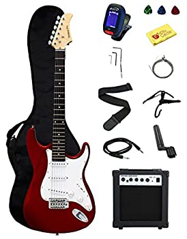 Full-Size Red Electric Guitar