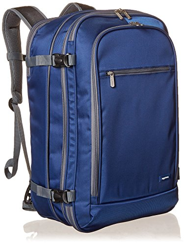 Amazon Basics - Mochila de equipaje de mano - Azul marino
