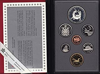 CA 1988 Canada Double Dollar Iron Workers 7 Coin Proof Set in Original Box Proof