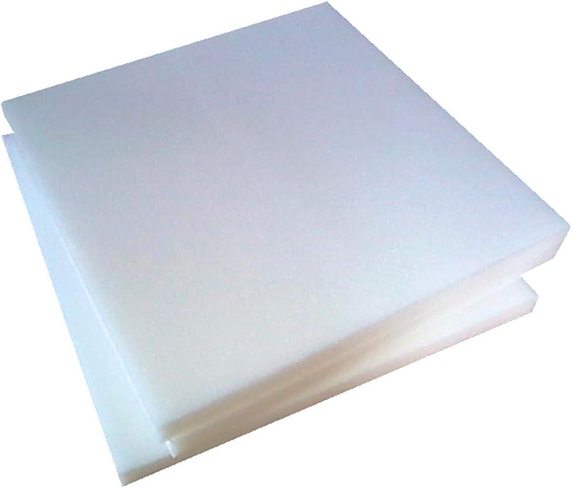 emmevi - Cojín de espuma a medida de poliuretano expandido de alta densidad con relleno personalizado para el asiento del sofá, la silla, el banco, el cojín
