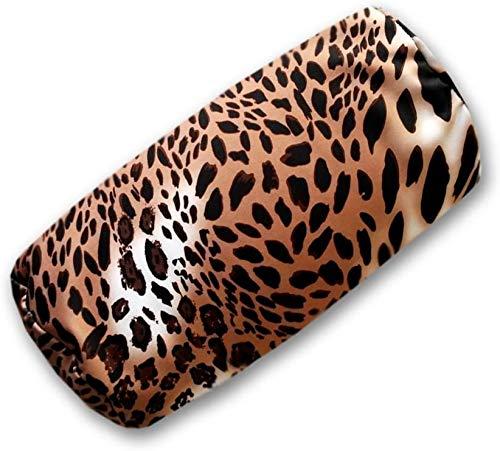 sngpl Leopard Kissen Nackenrolle mit Mikroperlen Füllung, Nackenkissen in Leopardenmuster. Hochwertiges Softkissen leicht und weich