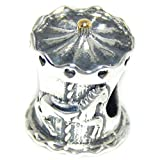 ICYROSE Solid 925 Sterling Silver Carousel Charm Bead 376