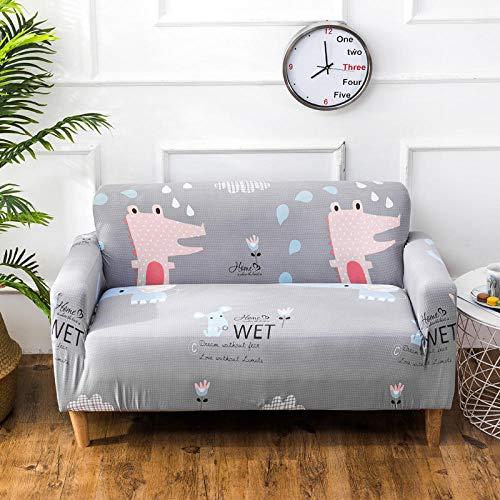 Allenger Universal Cubierta para Sofá,Funda de sofá elástica, cojín de sofá de Tela Antideslizante Todo Incluido, Funda de sofá de Esquina Universal para Todas Las Estaciones, Lavable-2_195-230cm