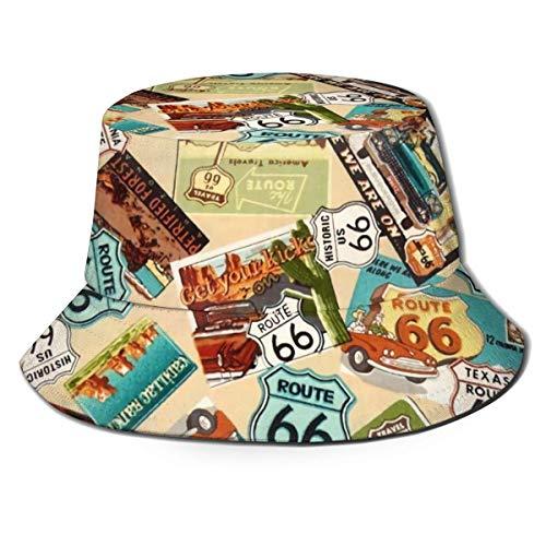 QILIAN Unisex Outdoor Buet Hüte mit breiter Krempe Sonnenschutz Fishe Caps mit Kupferplatte Fassade Tough Pink Rose Gold