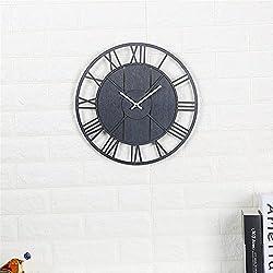 VariousWallClock Wall clock household pendulum clocks Creative mute wall sticker clock modern minimalist clock living room wood black
