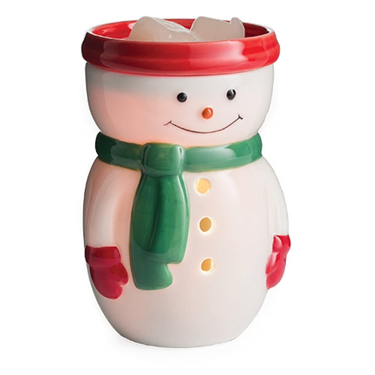 ヒョウ大脳家禽(Snowman) - Candle Warmers Etc. Midsize Illumination Fragrance Warmer - Snowman Midsize