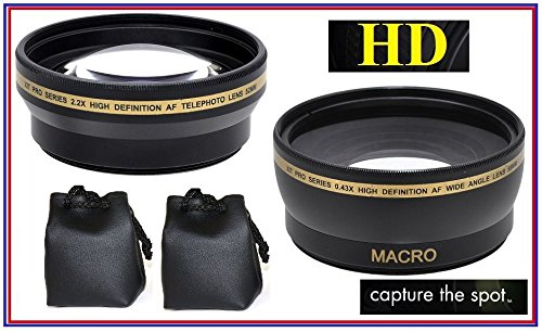DMC-FZ300 DMC-FZ80 New 0.45x High Definition Wide Angle Lens for Panasonic Lumix DMC-FZ70 Typ 114 DMC-FZ200 DMC-FZ1000 /& Leica V-LUX 4 Leica V-LUX DC-FZ1000 II