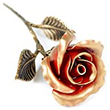 Hand Forged Iron Rose - Romantic Metal Gift of Everlasting Love