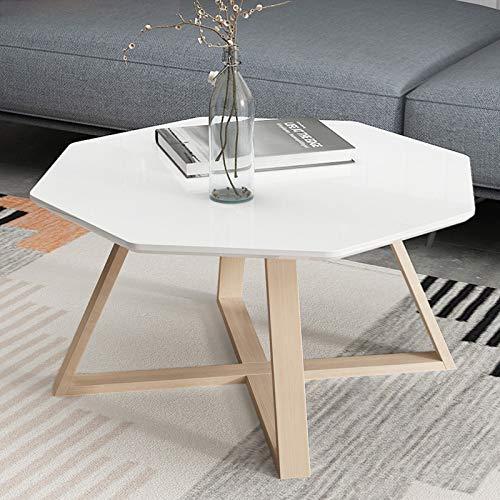XIN Theetafel, eenvoudige woonkamer creatieve witte salontafel, slaapkamer nachtkastje, kleine vierkante bijzettafel