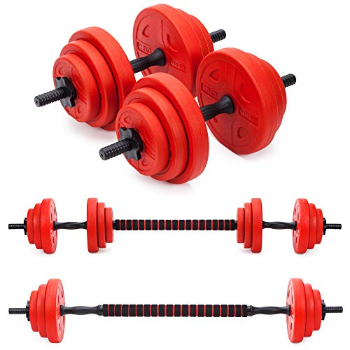 Gallant 20kg Adjustable Dumbells Weights Set with Barbell For Men and Women Excellent Free Hand Weight Dumbbells Set Ideal For Home Gym Fitness Training Dumbbell Set Weights Lifting Equipment