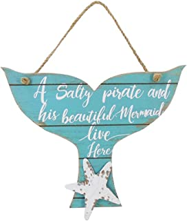 The Bridge Collection 'A Salty Pirate and His Beautiful Mermaid Live Here' Plaque Sign