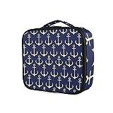 LUPINZ Bolsa de cosméticos con ancla nutical ancla bolsa de maquillaje bolsa de viaje organizadora bolsa de aseo para niña