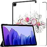 Funda para Samsung Galaxy Tab A7 Tableta de 10,4 Pulgadas 2020 (sm-t500 / t505 / t507), Piezas Dragon Fruit Pitahaya Water Splash Funda de Soporte de ángulo múltiple con activación/suspensión autom