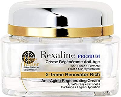 Rexaline - X-treme Renovator Rich - Anti-Aging Regenerating Cream - Anti aging and anti wrinkle Hyaluronic Acid cream – Nourishing & Soothing - Facial Moisturizer - Dry Skin - Cruelty Free - 50ml from Rexaline