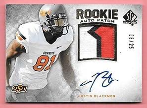 2012 SP Authentic Gold #277 Justin Blackmon 3 Color OSU Patch Autograph #08/25