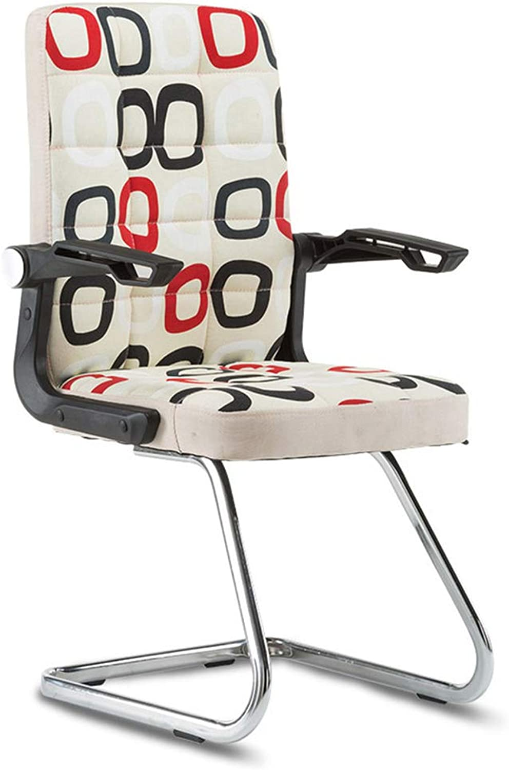 MEIDUO Chairs Office Chair,High Back Guest Chair with Folding Armrest Reception Chairs for Office Living Room Meeting Room (color   A (Fabric))