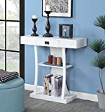 Convenience Concepts Newport Harri Console Table, White