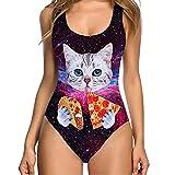 BakeLIN Bikini Set, Damen Niedlich Katzen Drucken Siamesisch Badeanzug Bademode Beachwear (S~XL, Mehrfarbig) (S, Mehrfarbig 14)