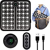 EMS Foot Massager Pad with Remote Control, Pro Electrode Foot Stimulation Pad, Dredging The Lymphatic System, Deep Kneading Improves Circulation Relieves Pain