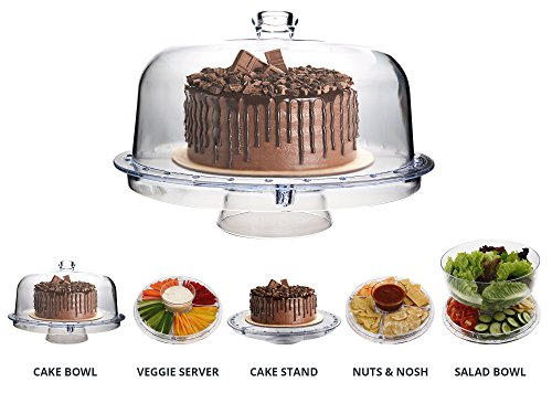 mini acrylic cake stand with lid - 5