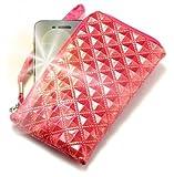 PhoneMate Princesa - Cartera con cierre de cremallera, piel acolchada y tarjetero para BlackBerry Curve 3G 9330, color rosa