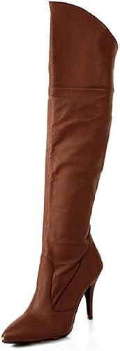 Higher Heels PleaserUSA Botte de Cuir Vanity-2013